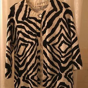 Marisa Cristina cotton zebra print sweater.